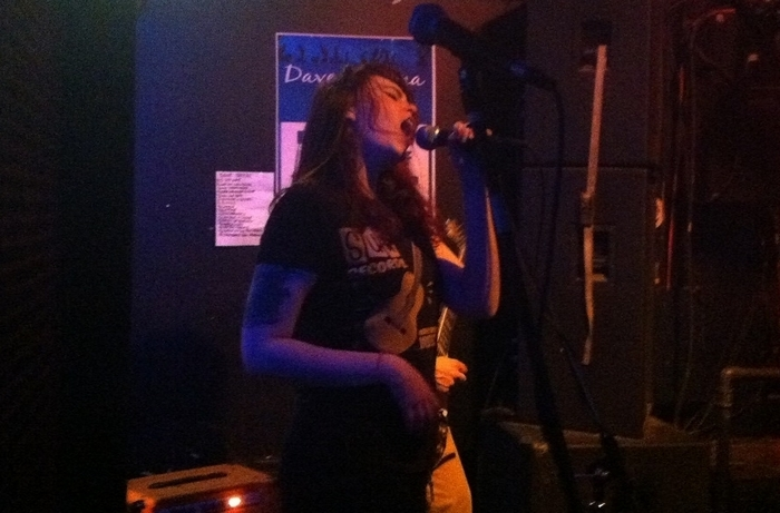 Lucy Bell of Dollar Diplomacy performs at the Tudor Lounge last week.