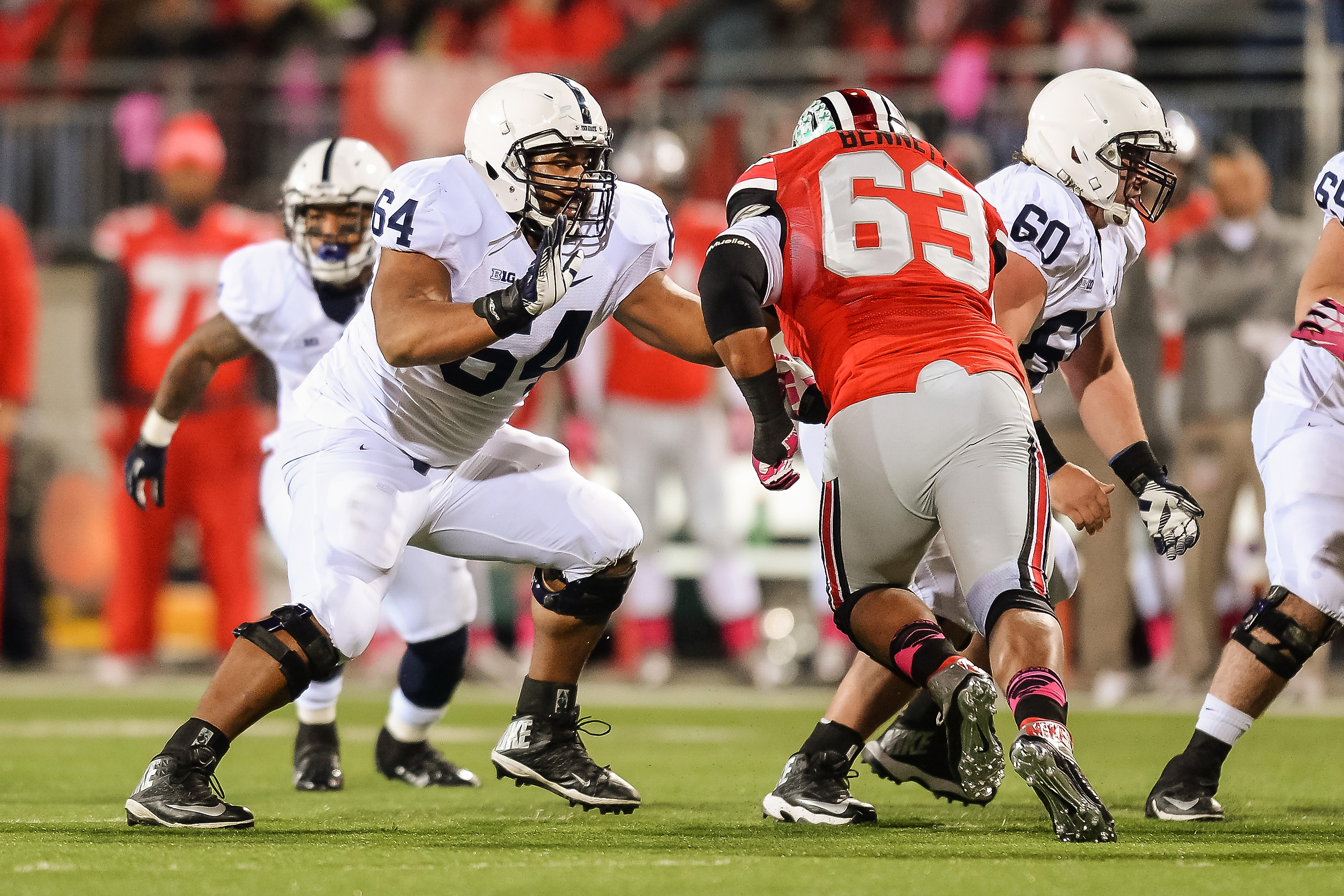 John Urschel (64) won the Sullivan Award after a standout academic-athletic career at Penn State. (Getty Images)