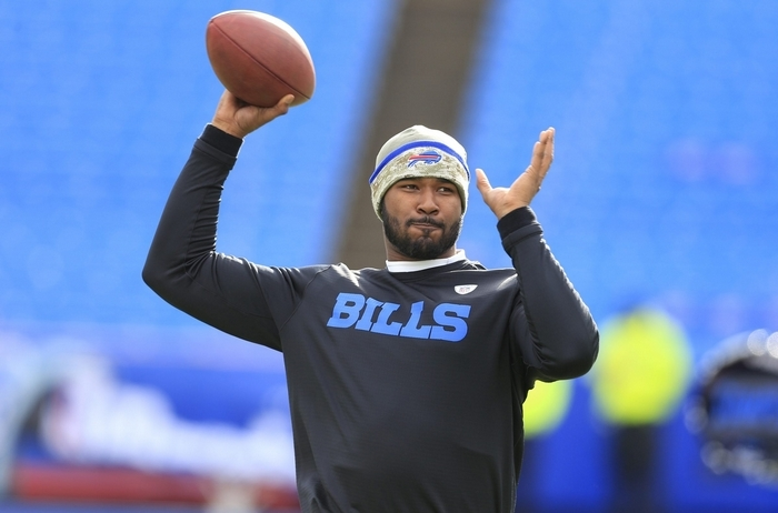 New Bills head coach Rex Ryan is excited to see how EJ Manuel progresses under offensive coordinator Greg Roman, quarterbacks coach David Lee and offensive assistant Chris Palmer. Ryan had high praise for Manuel's work ethic as well. (Harry Scull Jr./Buffalo News)