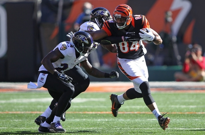 Tight end Jermaine Gresham spent five seasons with the Cincinnati Bengals, who drafted him in the first round out of Oklahoma. (Getty Images)