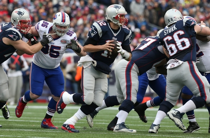 Offensive moves make it clear the Buffalo Bills are coming after Tom Brady and the New England Patriots. (James P. McCoy/Buffalo News)