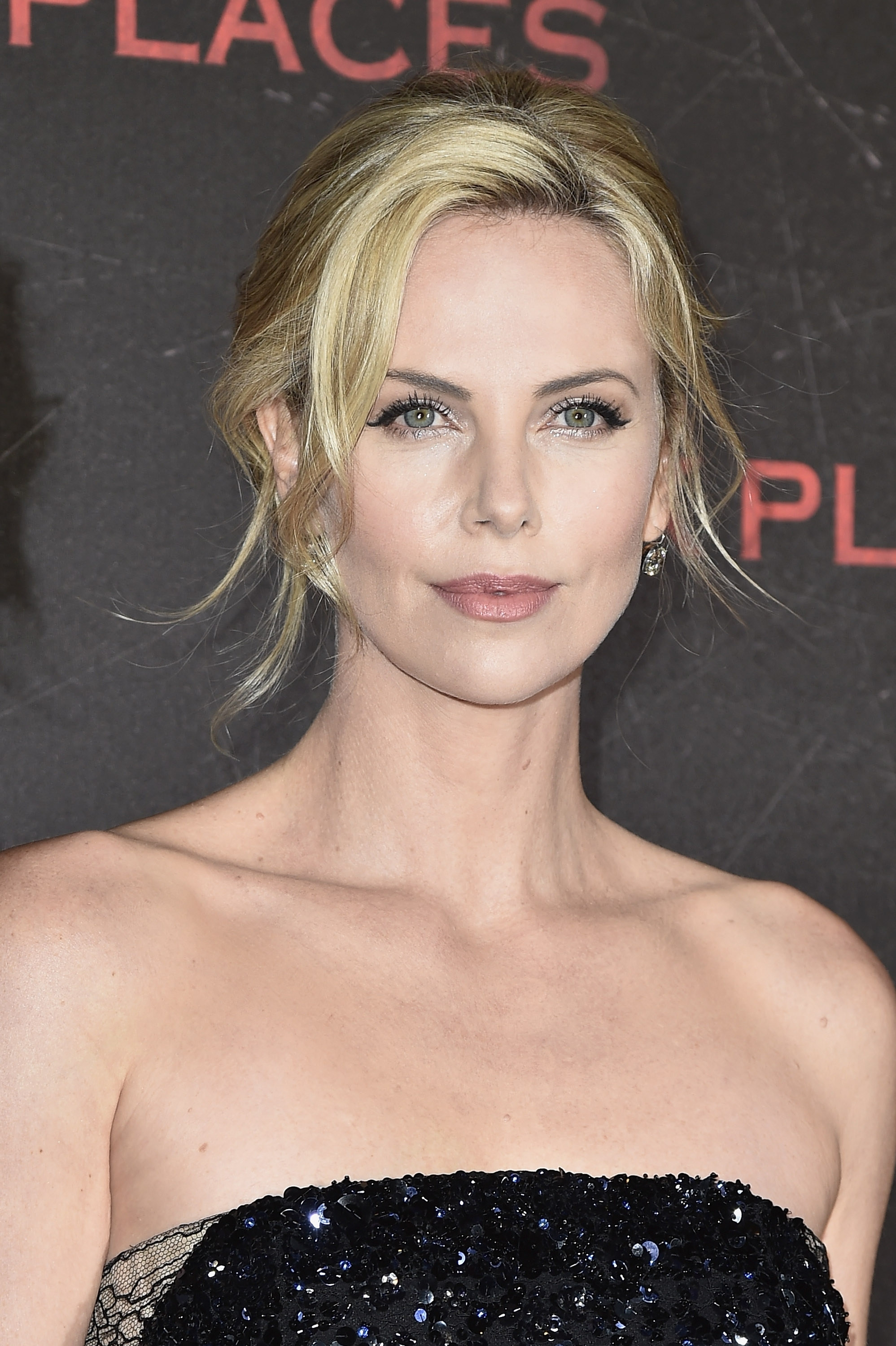"""Charlize Theron attends the """"Dark Places"""" Paris Premiere on Tuesday at Cinema Gaumont Capucine in Paris."""