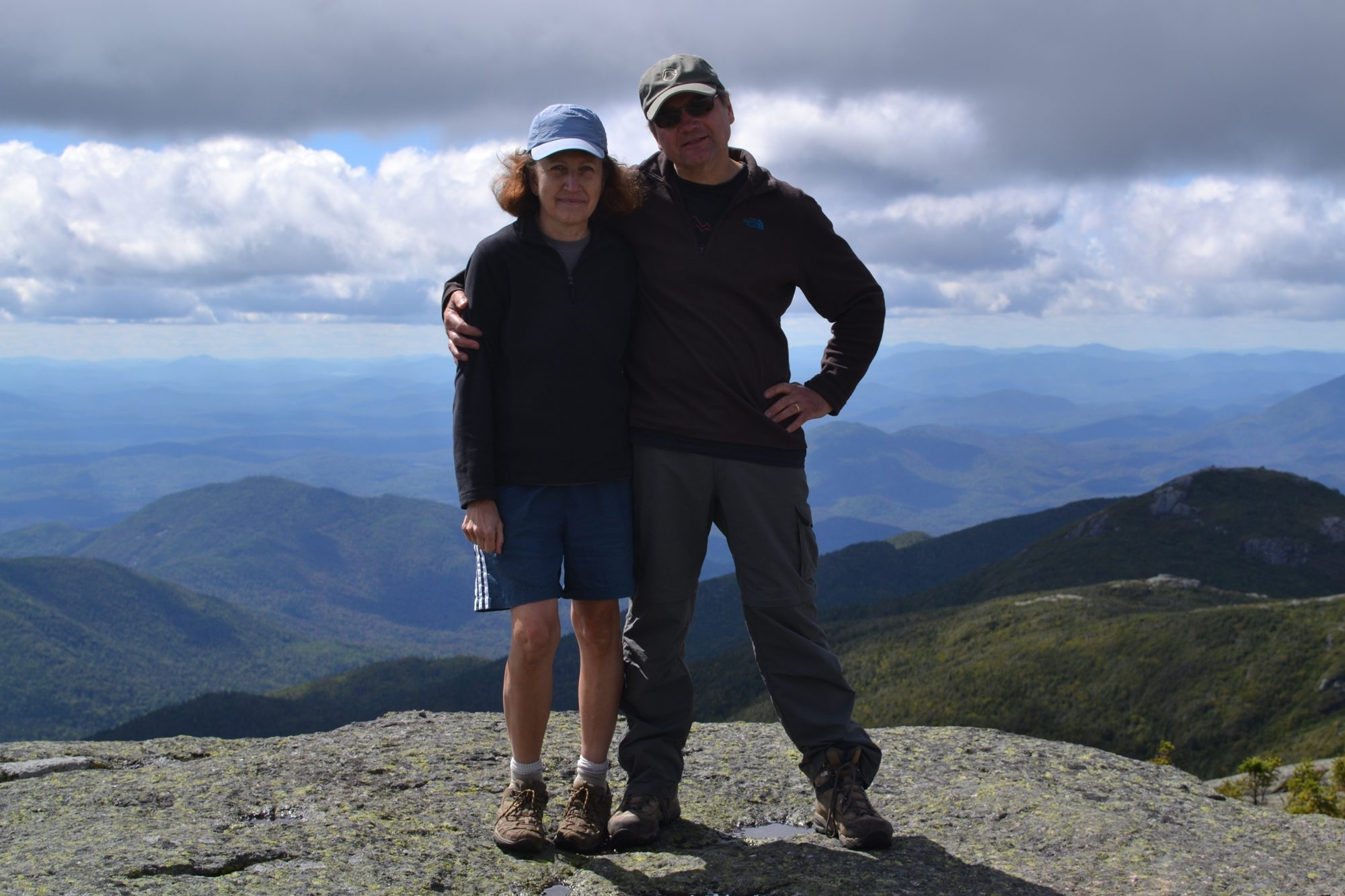Donna and Marty Ruszaj take trail mix and apples along on their hikes. Here, they are in the Adirondacks.