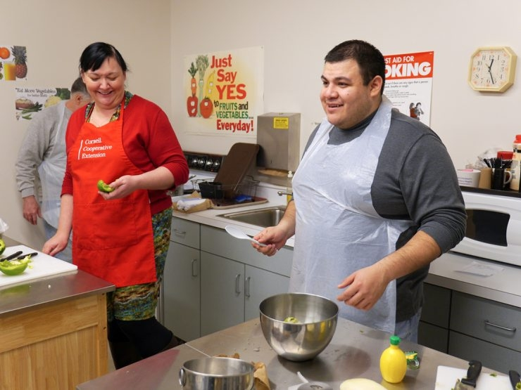 Vincentian seminarian David Serrano works in the kitchen of the Heart, Love and Soul Food Pantry in Niagara Falls during his month-long apostolic mission.