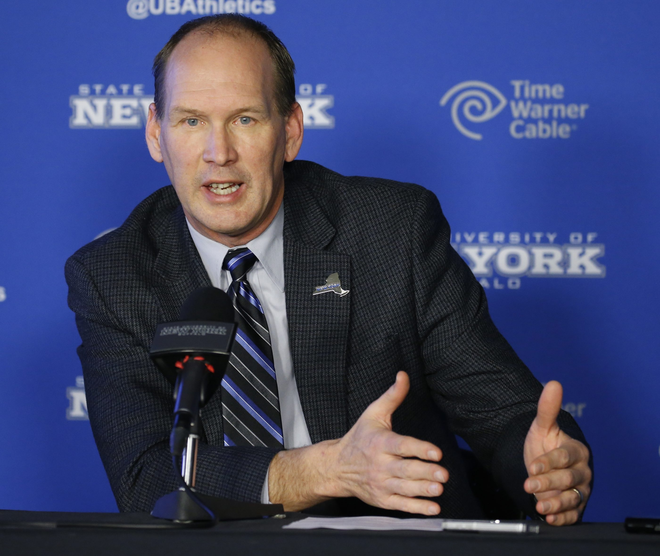 New UB football coach Lance Leipold will get more acquainted with his team starting Wednesday.