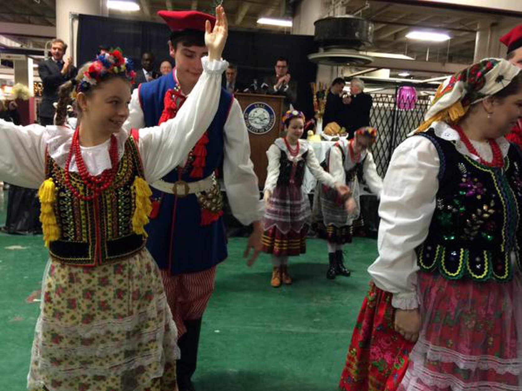 Polish dancers were on hand for the ceremonial opening of the Easter season at the Broadway Market on March 20. (Susan Schulman)