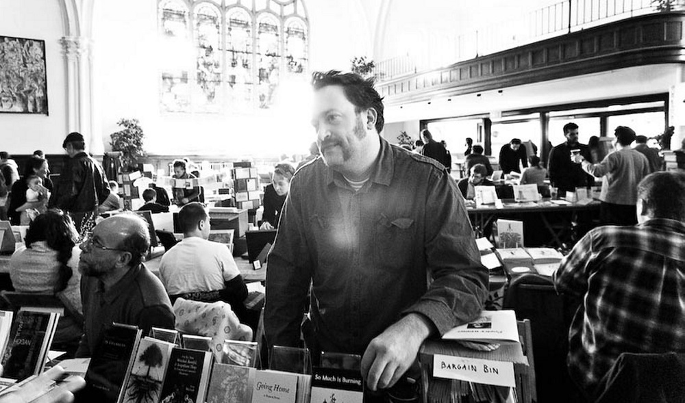 A new exhibit celebrates 10 years of David McNamara's Sunnyoutside Press. (Derek Wuenschirs)
