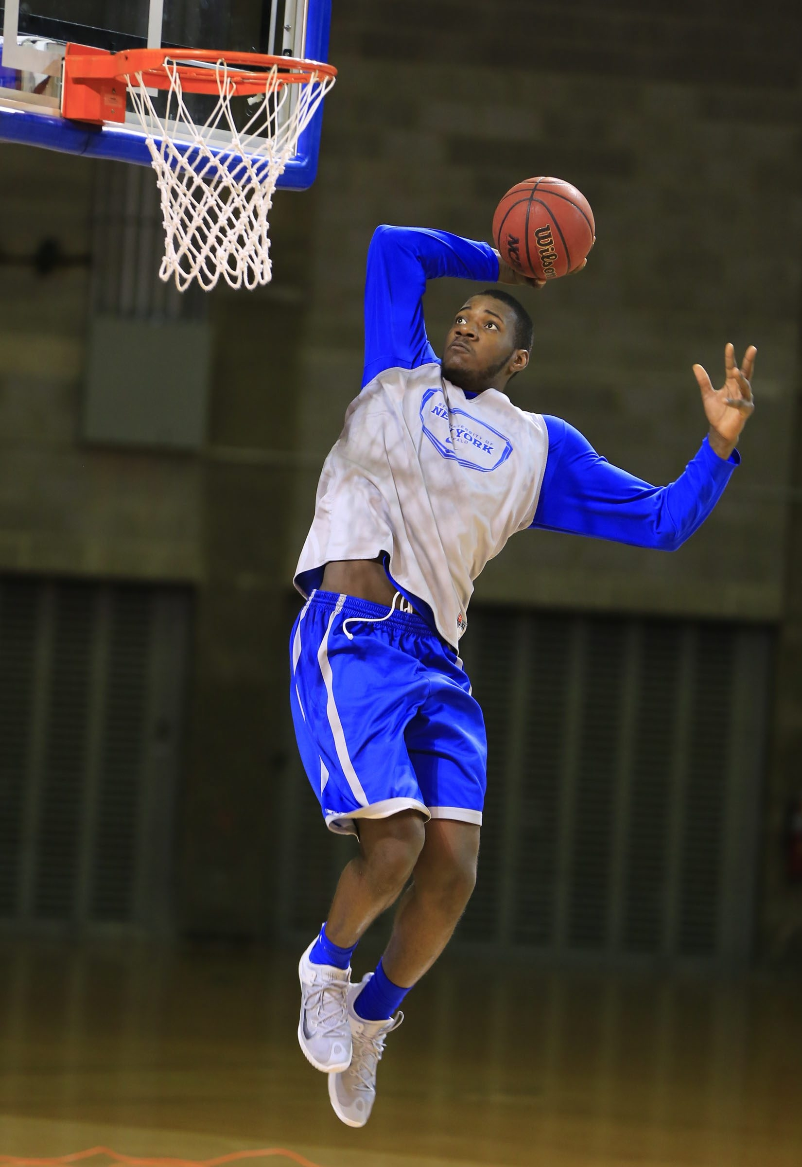 University at Buffalo's Raheem Johnson during practice at Alumni Arena on Tuesday, March 17, 2015.()