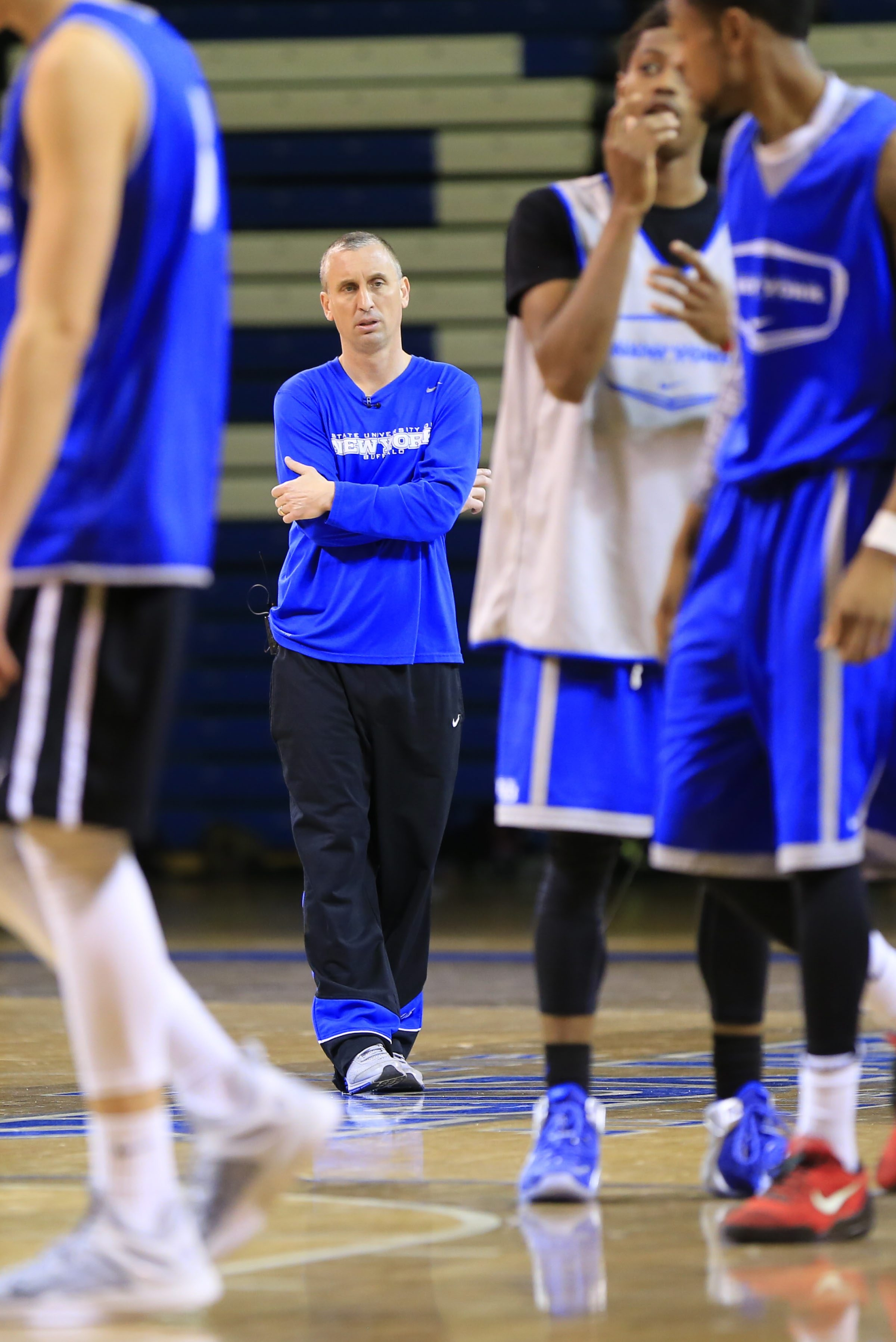 Bobby Hurley has become renowned for his sideline intensity, and he's no less demanding in practice than he is during a game.