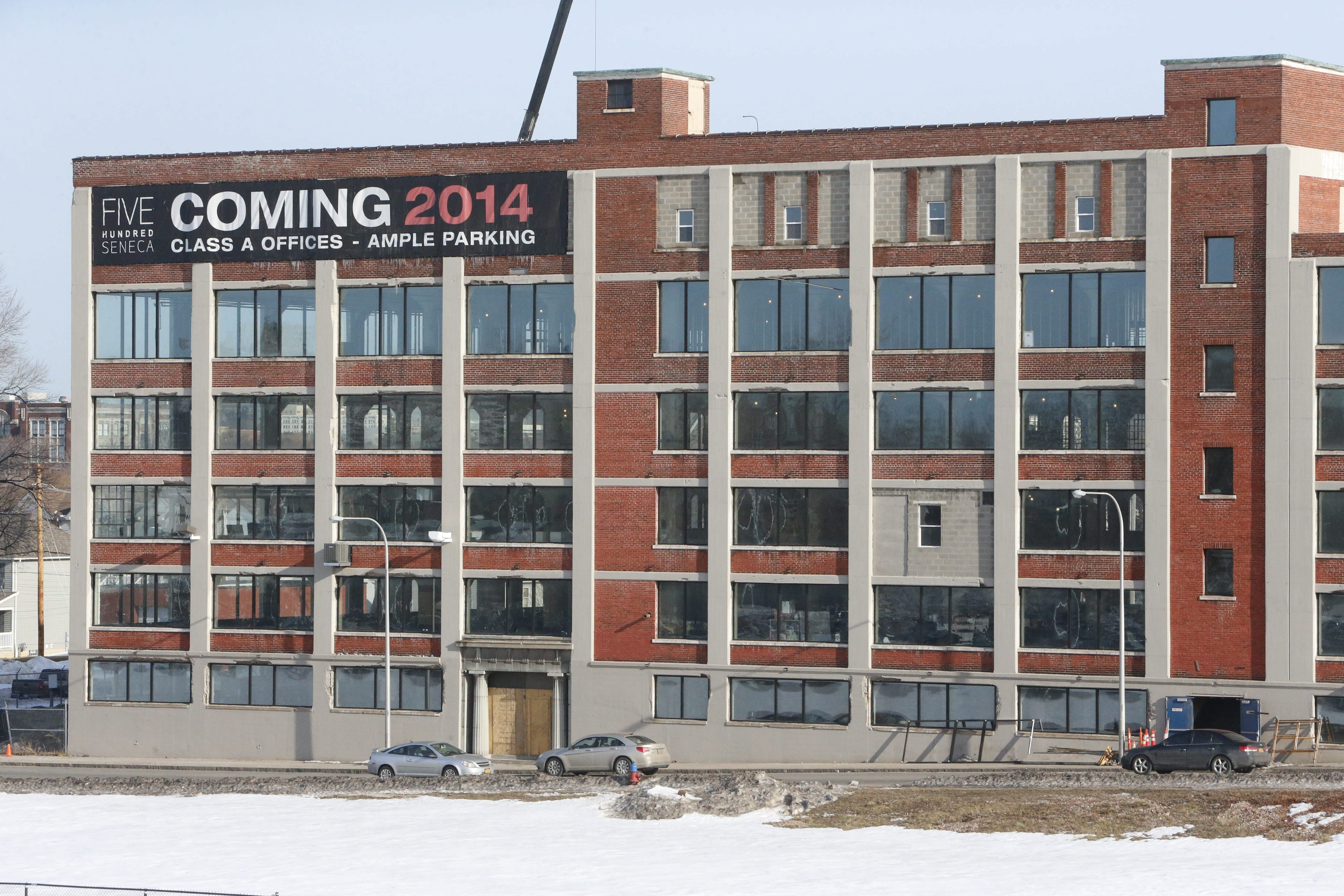 500 Seneca Street, is being renovated by Savarino into a mixed-use residential and commercial space, Friday, March 13, 2015.  (Derek Gee/Buffalo News)