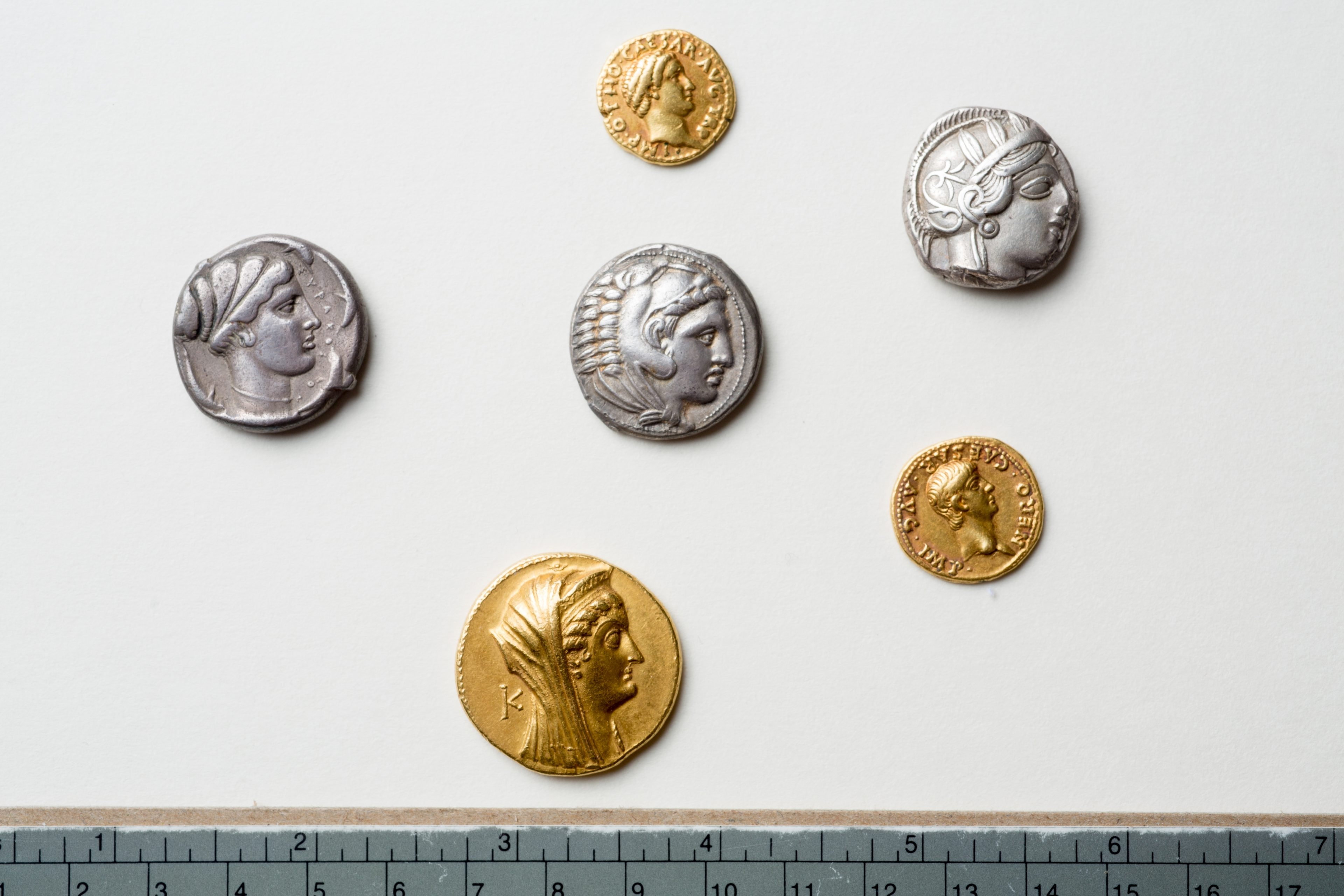 These rare Greek and Roman coins were found at the University at Buffalo Library.