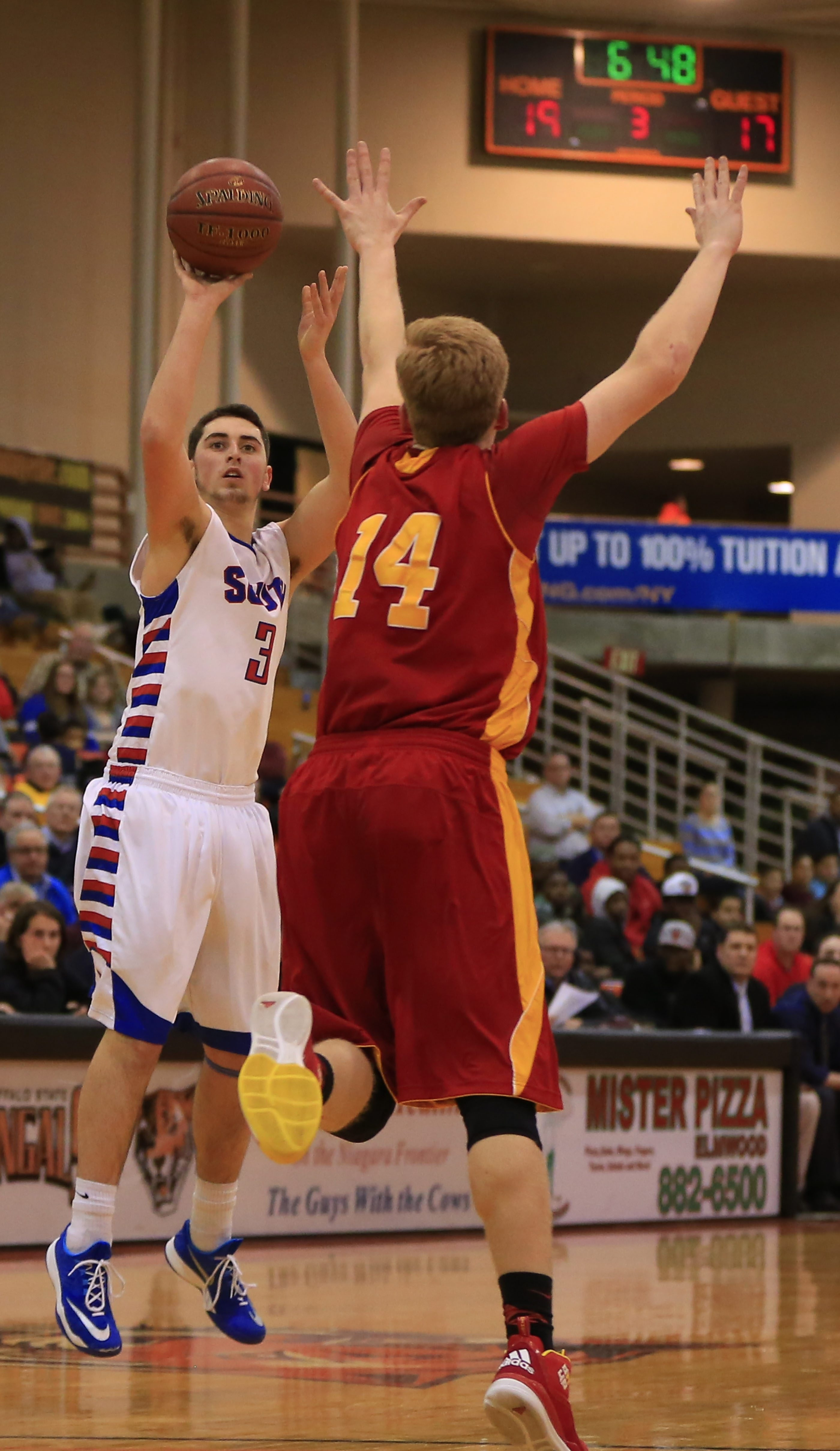 Williamsville South's Sam Castronova shoots against Olean in the second half of Tuesday's game.