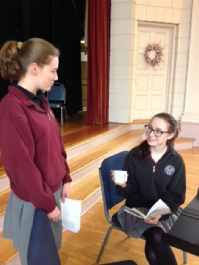 Jillian Farrell, left, stars in the role of Katrin and Julie Cordani as Mama. For NeXt.