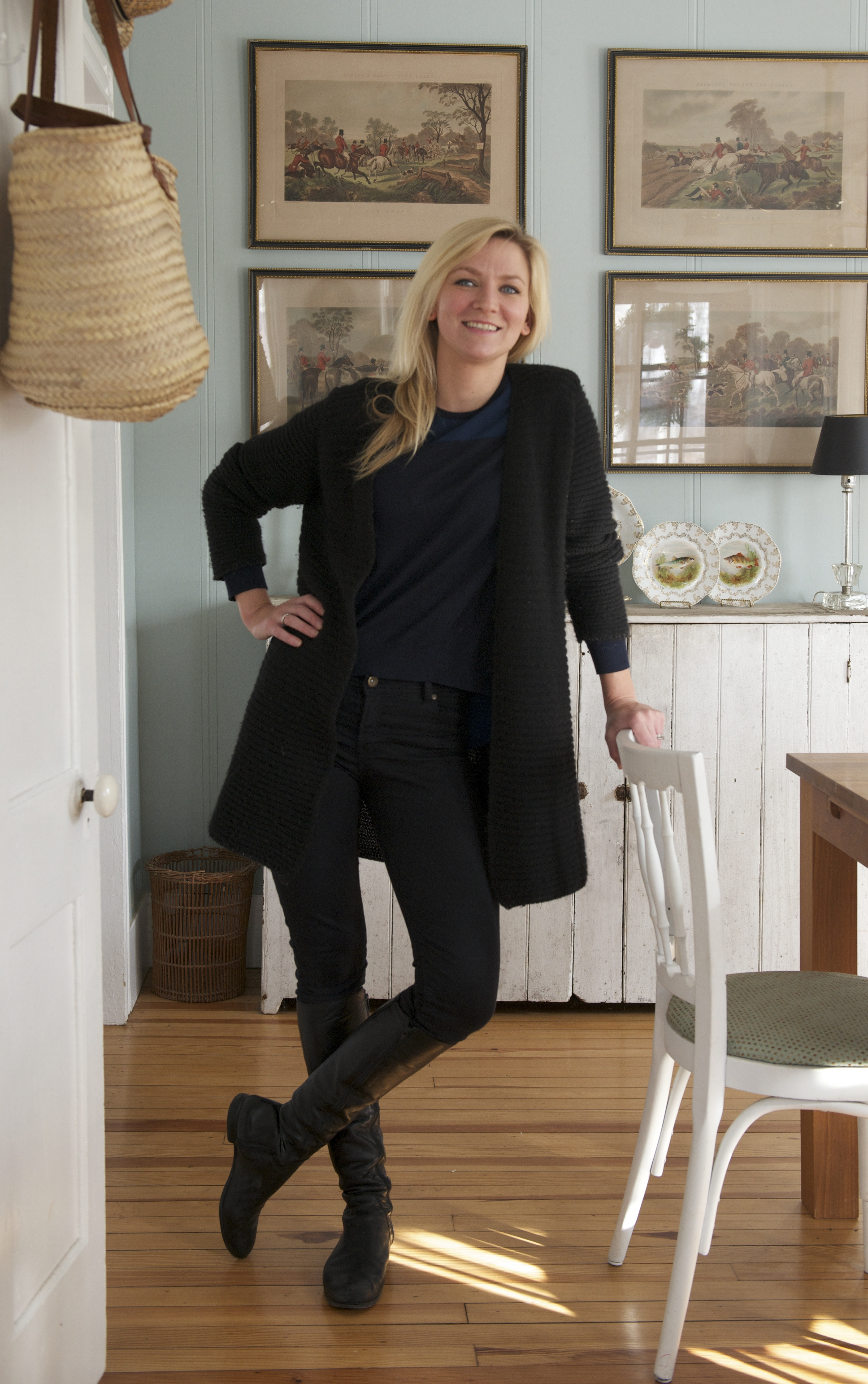 Christina Salway in the dining room of her home near Callicoon, N.Y., Jan. 7, 2015. Salway and her husband spotted the dilapidated farmhouse in a real estate office and renovated it into a home. (Jane Beiles/The New York Times)