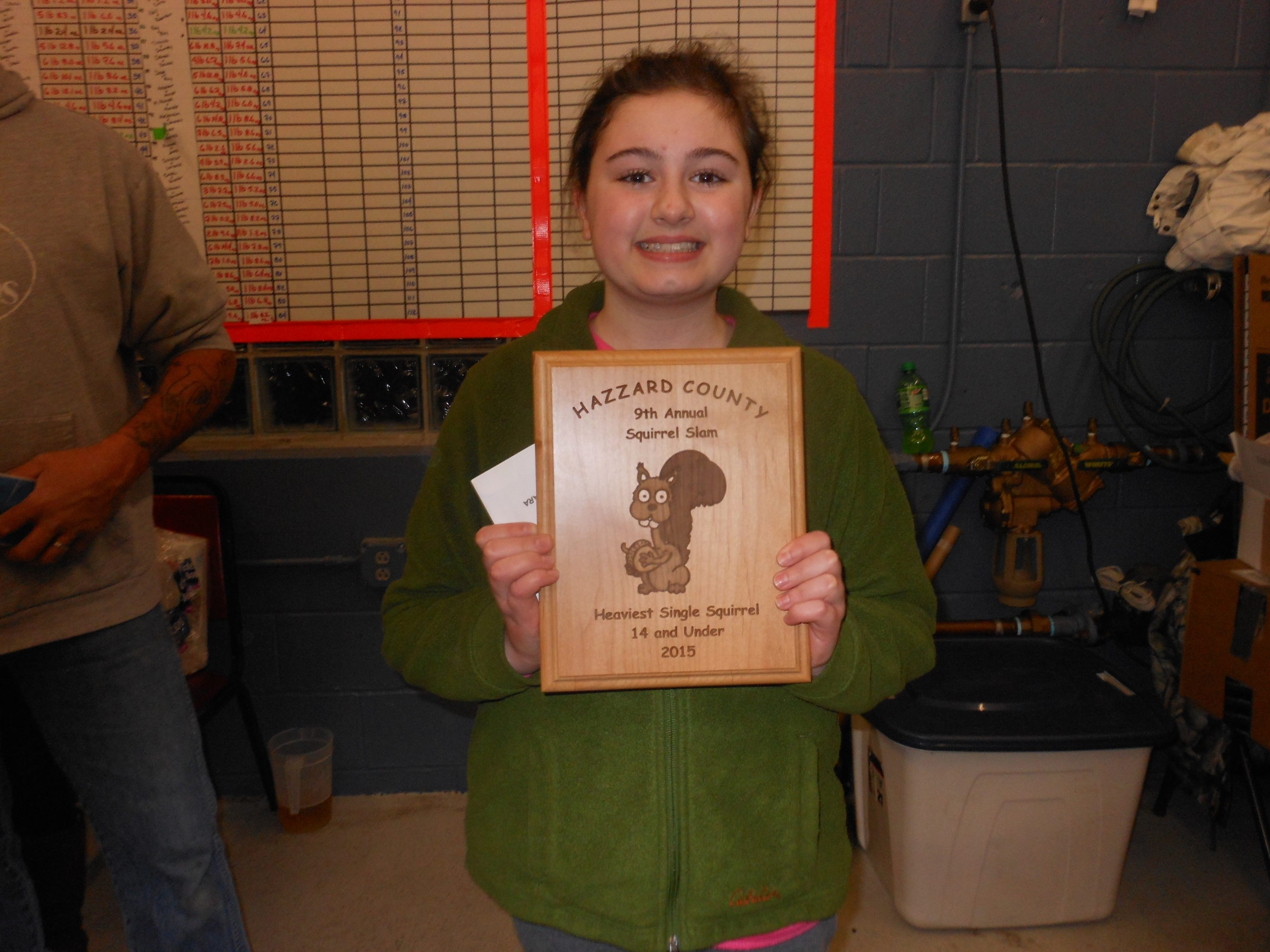Shawana Lusk took top prize in the Youth Division of the squirrel-hunt contest.