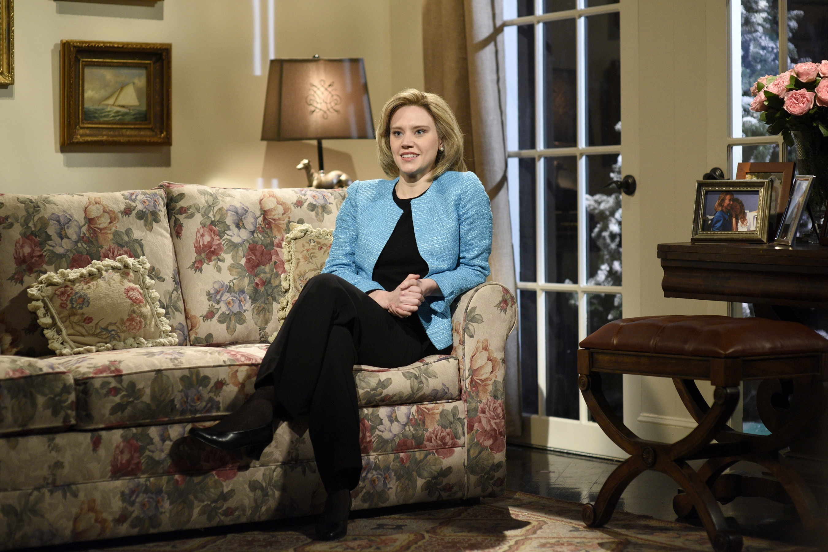 """Kate McKinnon debuts in her role as Hillary Rodham Clinton during last weekend's """"Saturday Night Live"""" show."""