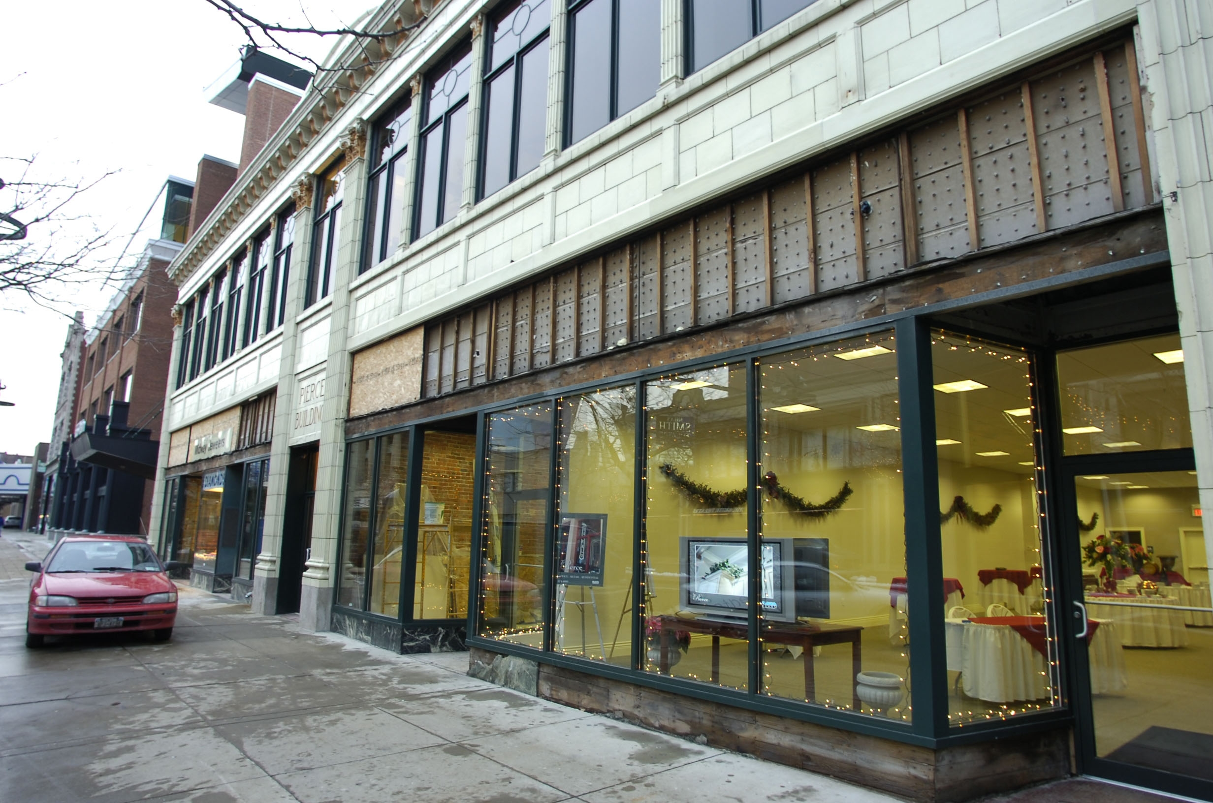 """Rent-free space in Pierce Building, 653 Main St., is being provided by Plaza Group for """"Queen City Pop-Up."""""""