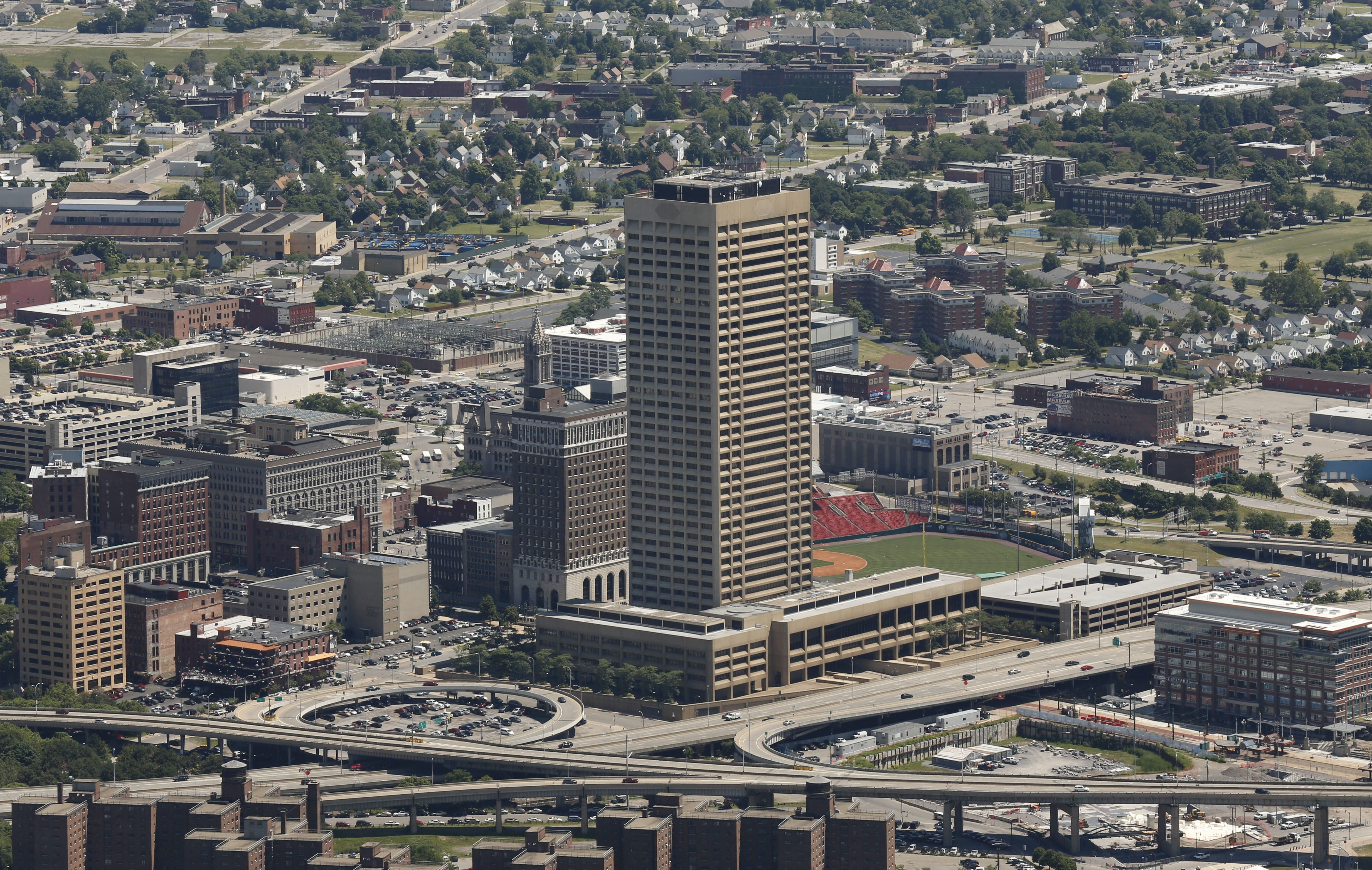 The City of Buffalo on Monday lowered the assessed value of One Seneca Tower by $2.7 million to $20.3 million.