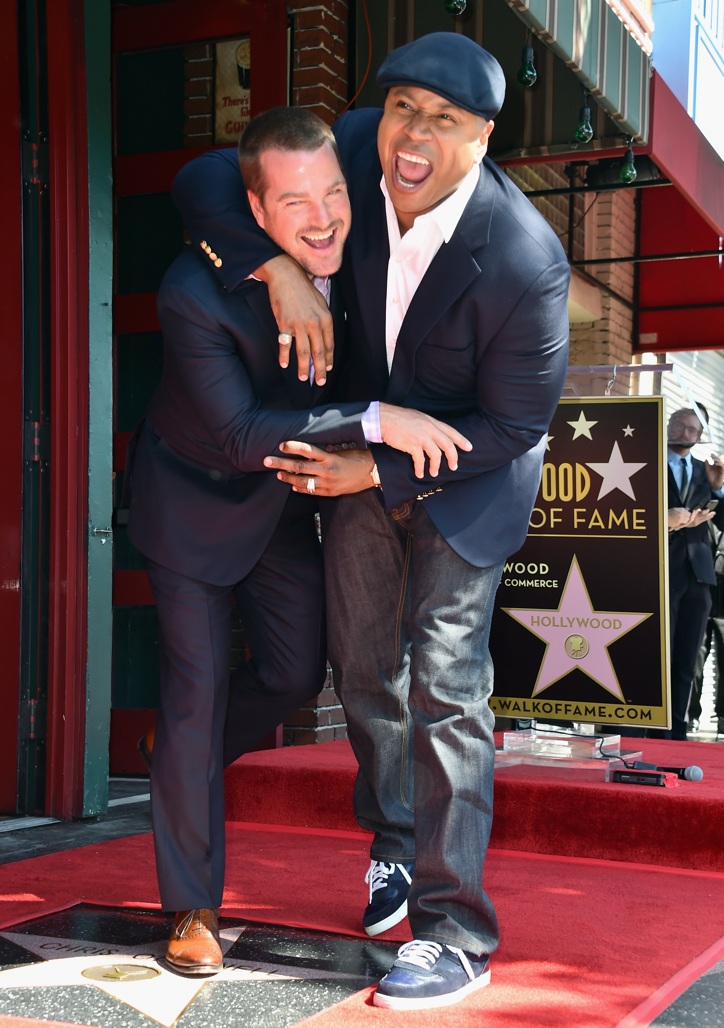 Newest star: Actors Chris O'Donnell and LL Cool J attend a ceremony Thursday honoring O'Donnell with the 2,544th Star on Hollywood Walk Of Fame.