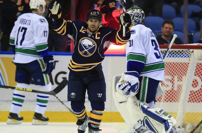 Sabres captain Brian Gionta says he and his teammates want to finish as high as they can in the standings, but currently they are last in the NHL with 47 points, 5 points behind Arizona, who comes to First Niagara Center Thursday night. (Harry Scull Jr./Buffalo News file photo)