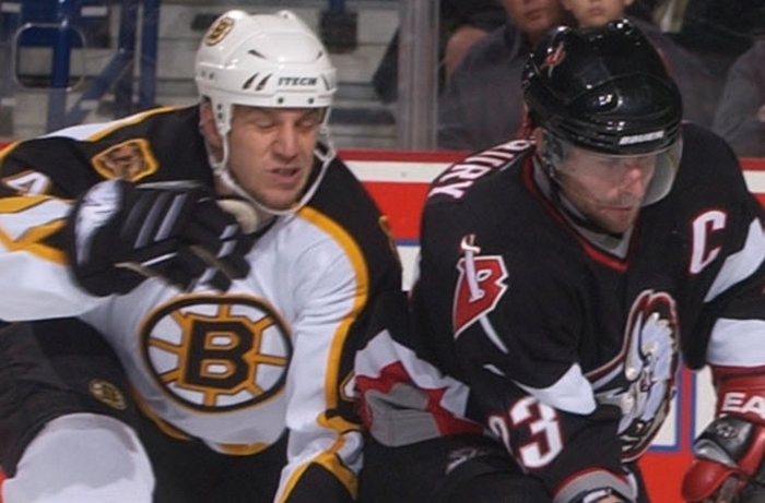 Nick Boynton, left, played most of his NHL career with the Boston Bruins. (John Hickey/News file photo)