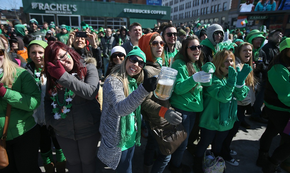 Delaware Avenue will be a sea of green on Sunday for the St. Patrick's Day Parade. (Buffalo News file photo)