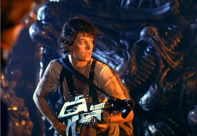 Sigourney Weaver stars in 'Aliens.'