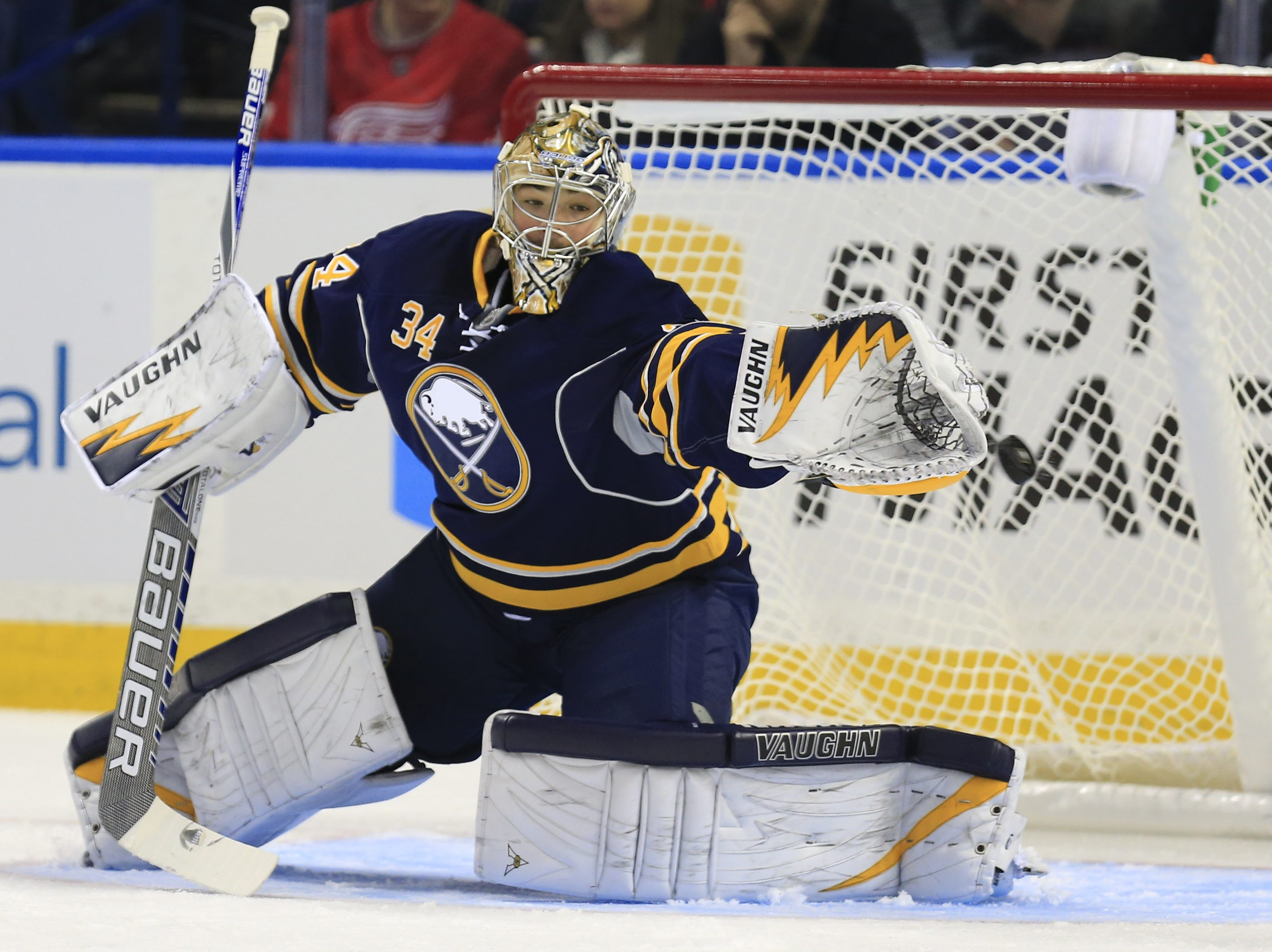 The Buffalo Sabres traded goaltender Michal Neuvirth to the Islanders Monday afternoon. (Harry Scull Jr./Buffalo News)