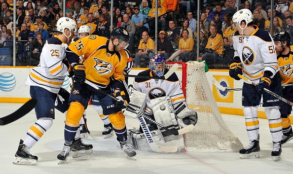 Matt Hackett had a busy night in the crease Saturday in Nashville (Getty Images).