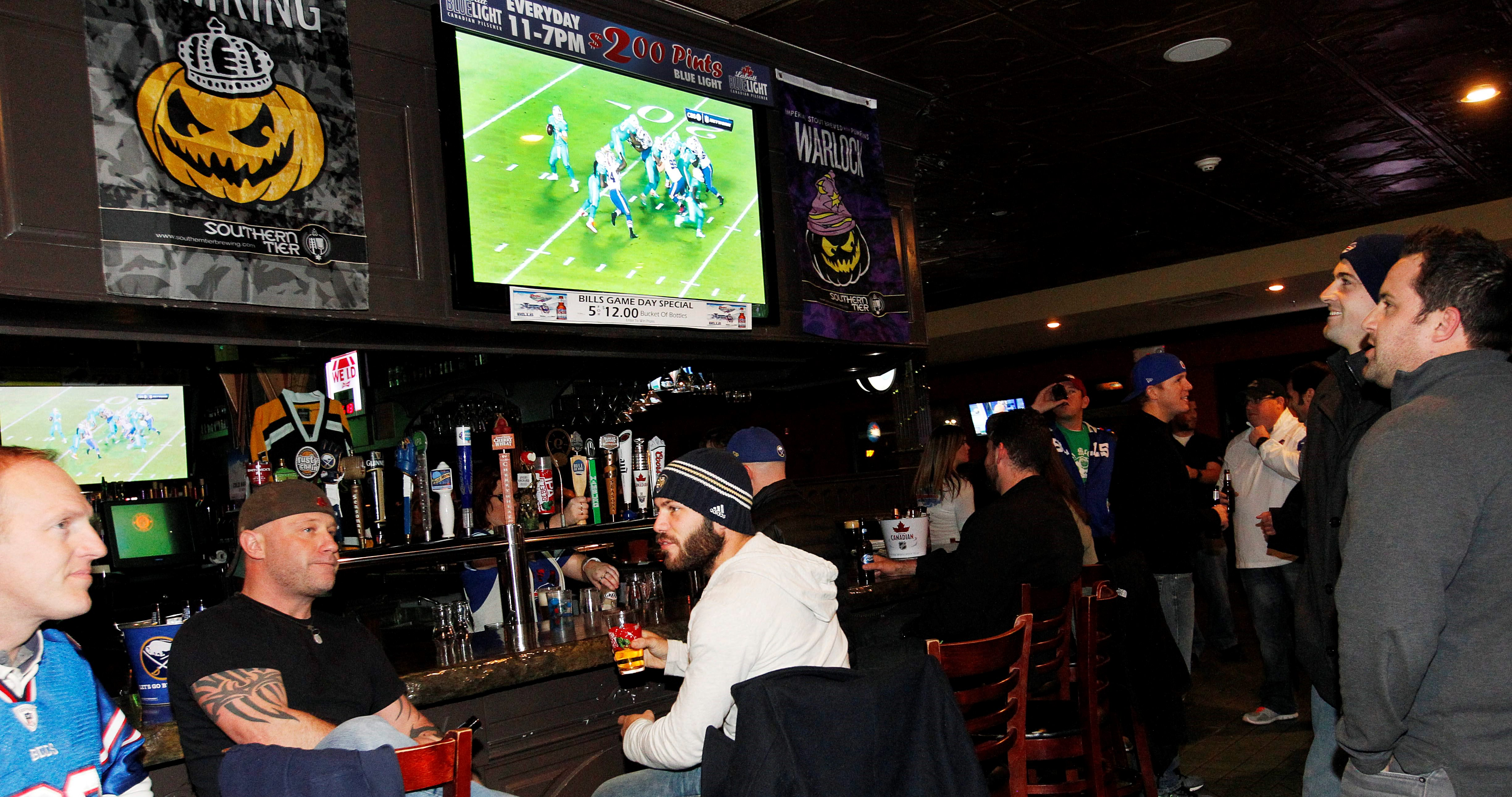 Bills fans looking to watch games in area bars won't have to worry about games being blacked out this season. (News file photo)