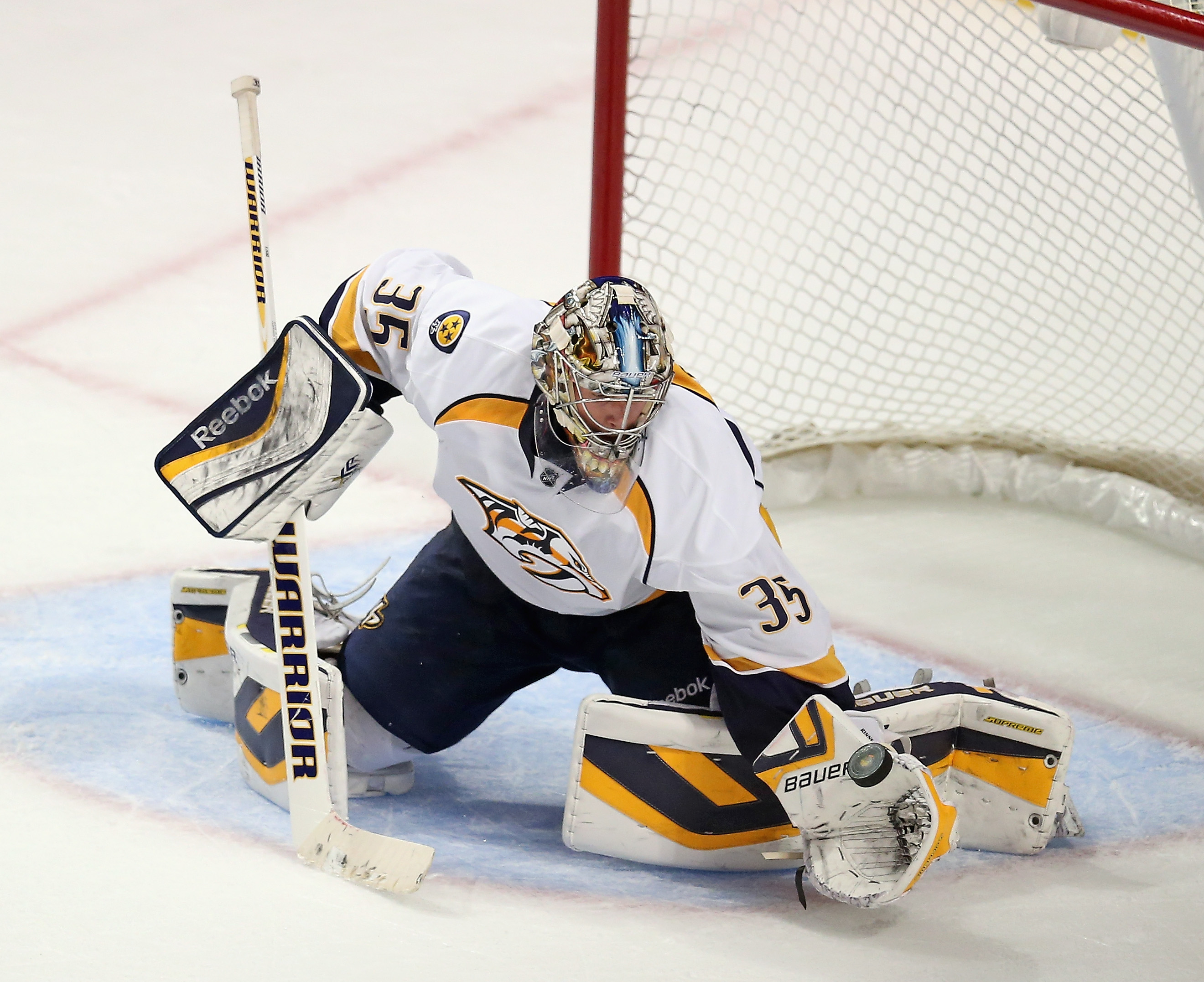 Pekka Rinne on former teammate Anders Lindback: 'I believed he can be a great goalie in this league.' (Getty Images)