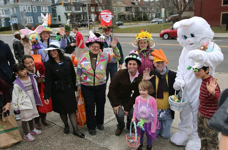 Easter Sunday 2013 in Elmwood Village was 58 degrees. It will be more than 20 degrees cooler this Easter, according to the National Weather Service forecast. (Buffalo News file photo)