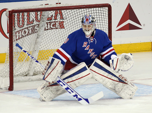 MacKenzie Skapski gets the call in net for the Rangers against the Sabres Saturday night (Getty Images).