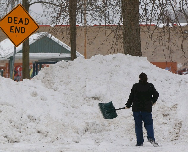 Buffalo's snow-pack reached a top depth of 26 inches on Feb. 15. (Derek Gee/Buffalo News)