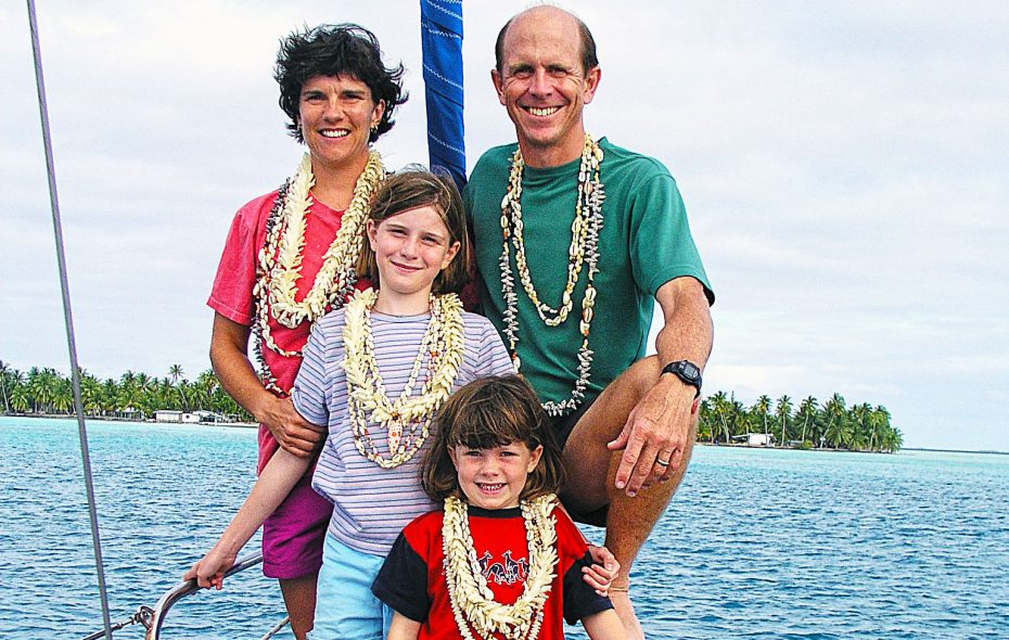 Doug and Kyle Hopkins, teachers at Buffalo Seminary, bring to the classroom many life lessons learned sailing the world with their two daughters, Eliza and Abigail (here in French Polynesia).