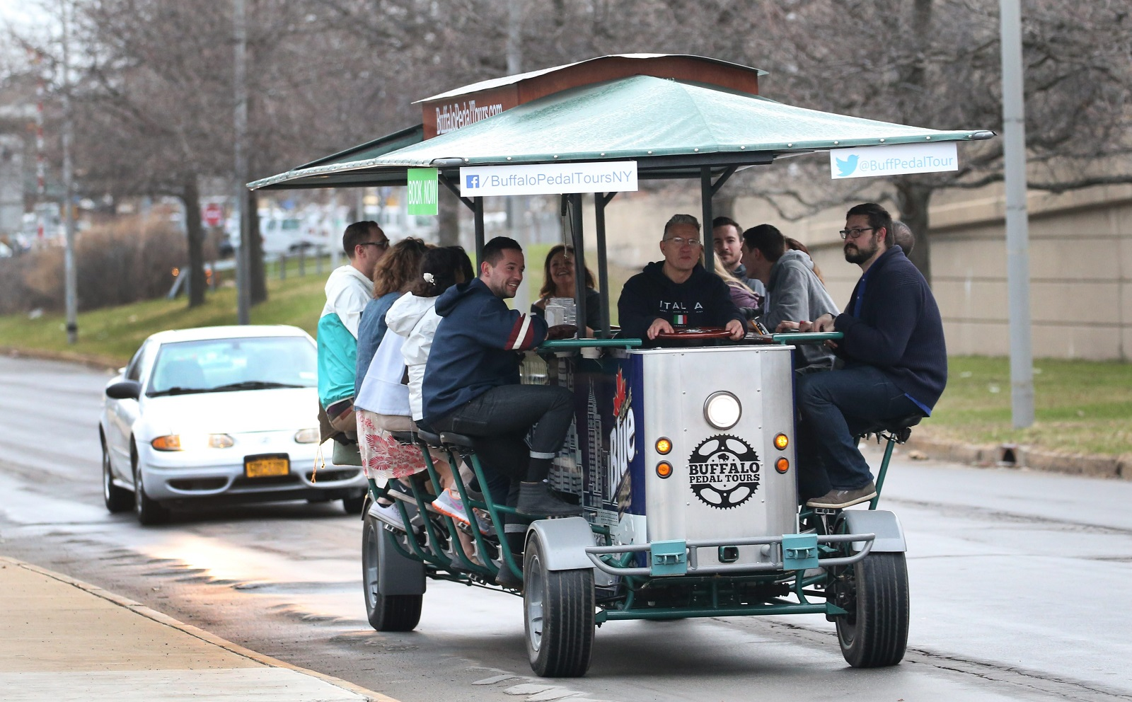 Buffalo Pedal Tours is one of the unique brew-based tours offered in Buffalo. (Sharon Cantillon/Buffalo News file photo)