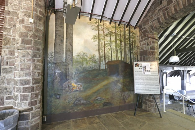 Recently restored mural by Bernard C. Feldman in the Chestnut  Ridge Park Casino Tuesday, April 21, 2015.  (Robert Kirkham/Buffalo News)