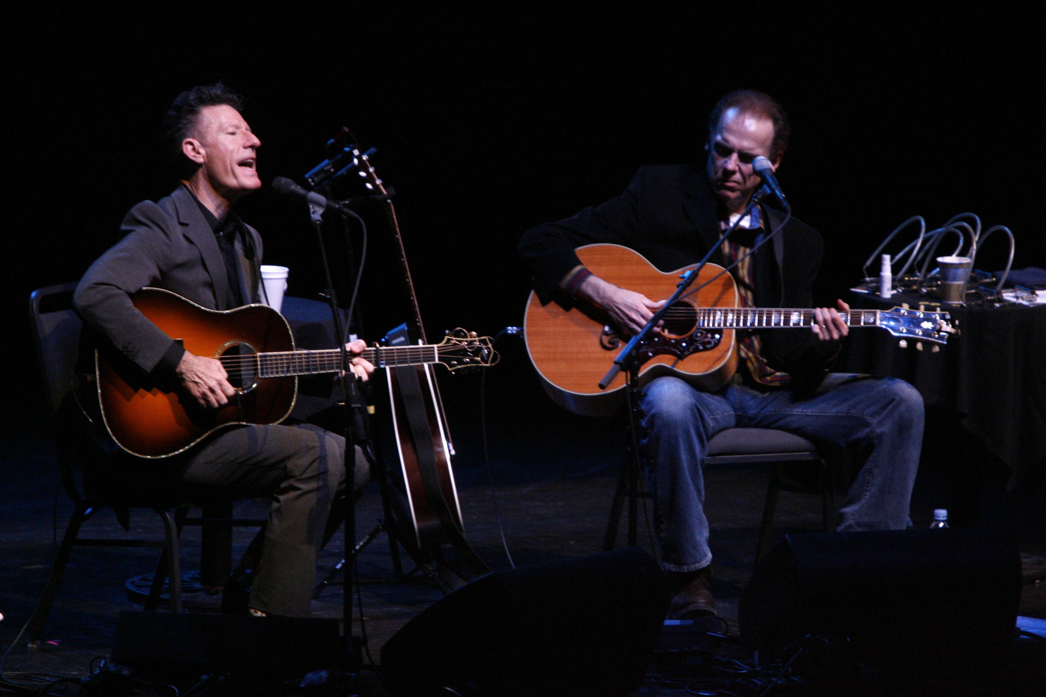 Lyle Lovett, left, and John Hiatt return to the University at  Buffalo Center for the Arts on Thursday. (Robert Kirkham/News file photo)