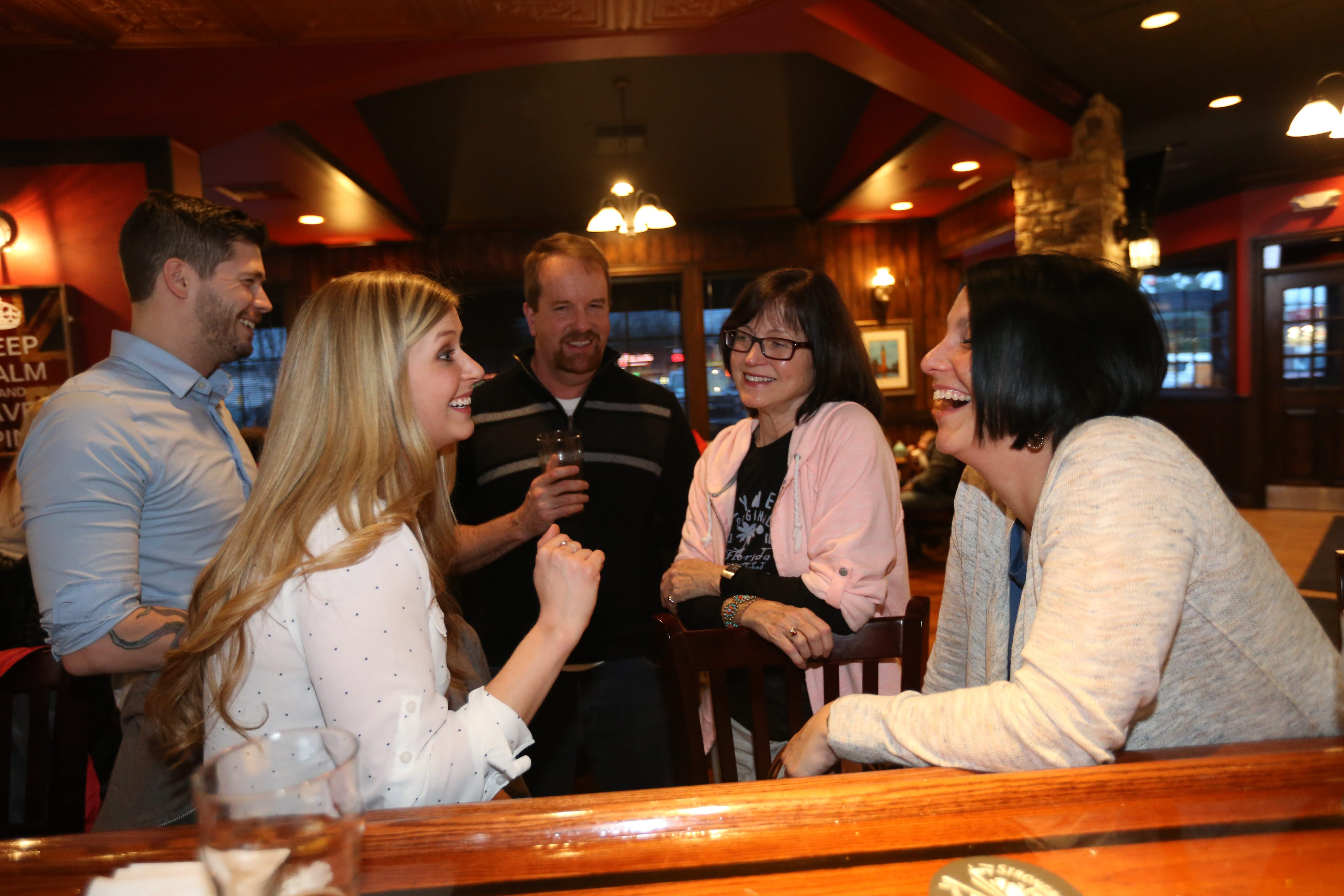 A group of friends hang out at the Tavern at Windsor Park. To view a photo gallery, visit buffalonews.com.
