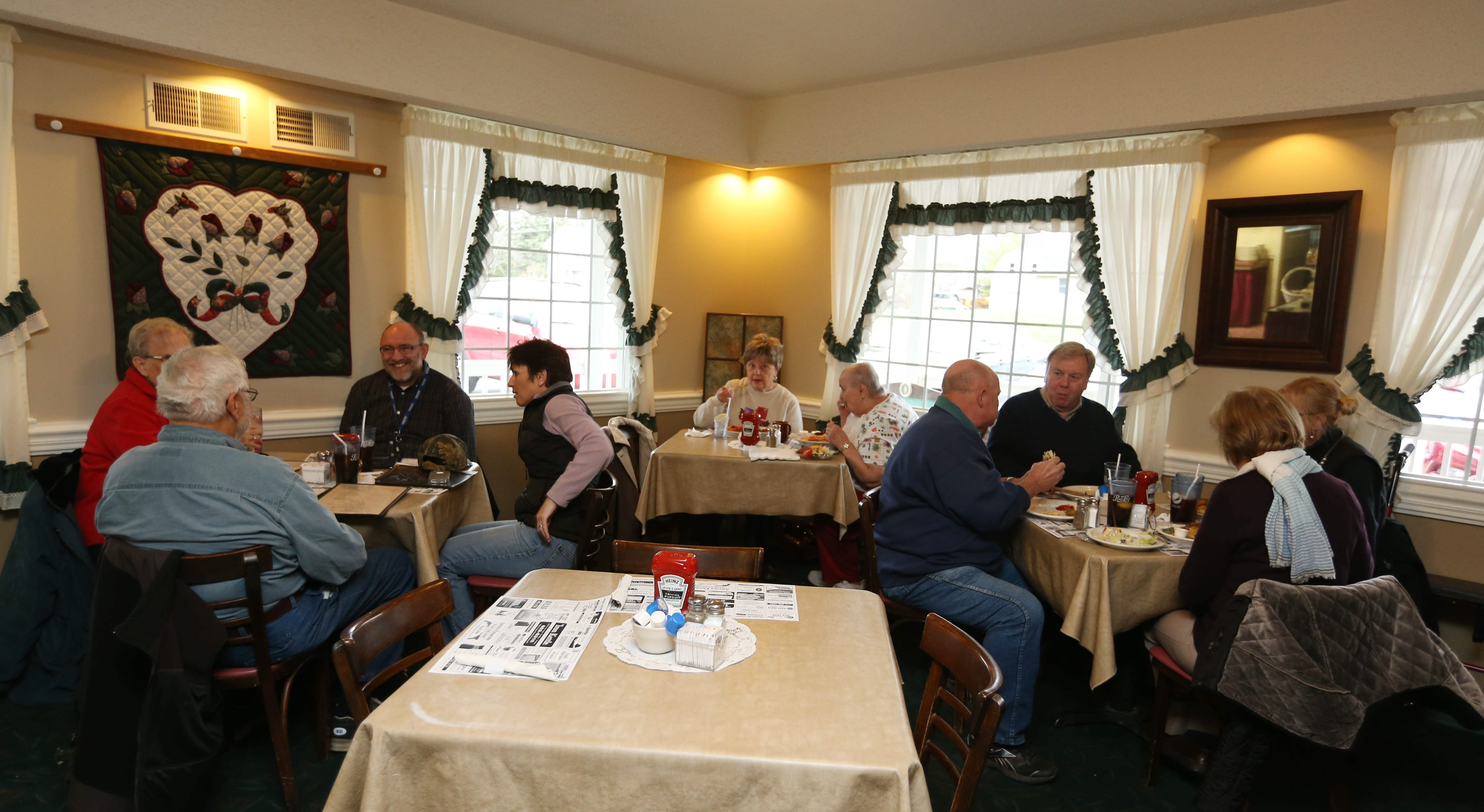 The Iron Kettle, which has been around since 1947, is heavy on comfort food. The East Aurora establishment also serves breakfast all day.