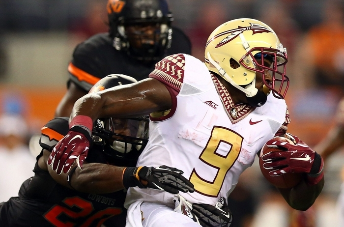 Florida State running back Karlos Williams is a converted safety who once started a bowl game at linebacker. (Getty Images)