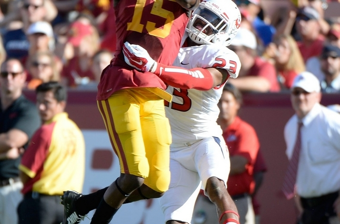 USC's Nelson Agholor led the Trojans in receptions and yards. (Getty Images)