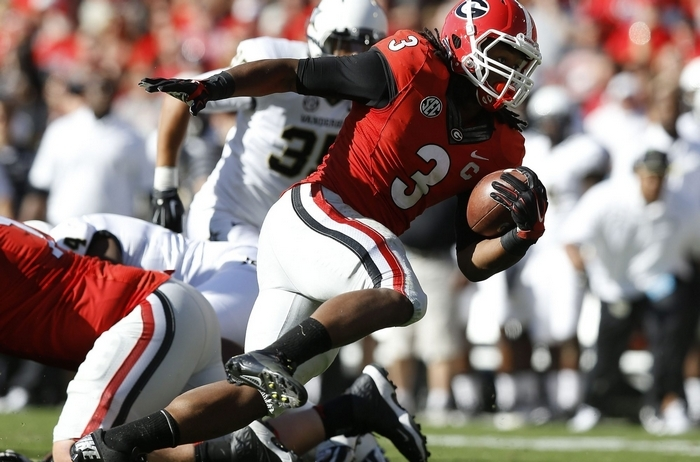 Todd Gurley is one of the backs that played in a pro-style offense at Georgia. (Getty Images)