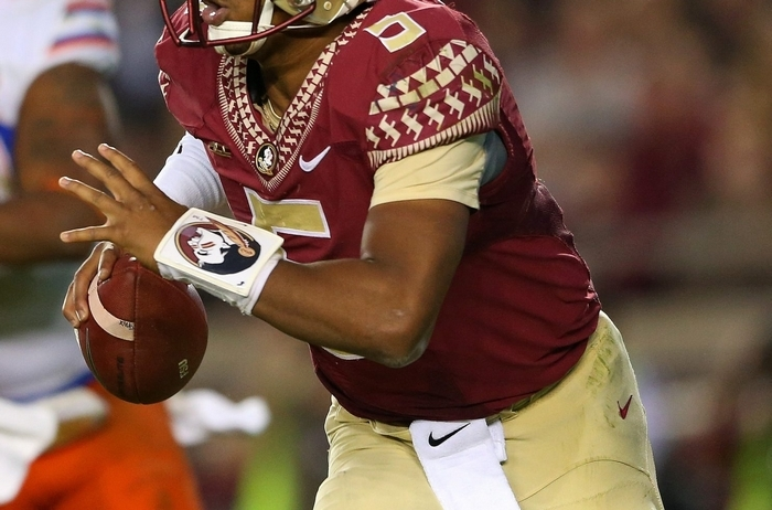 Jameis Winston could still be the No. 1 pick in the draft, but some have Marcus Mariota there. (Getty Images)