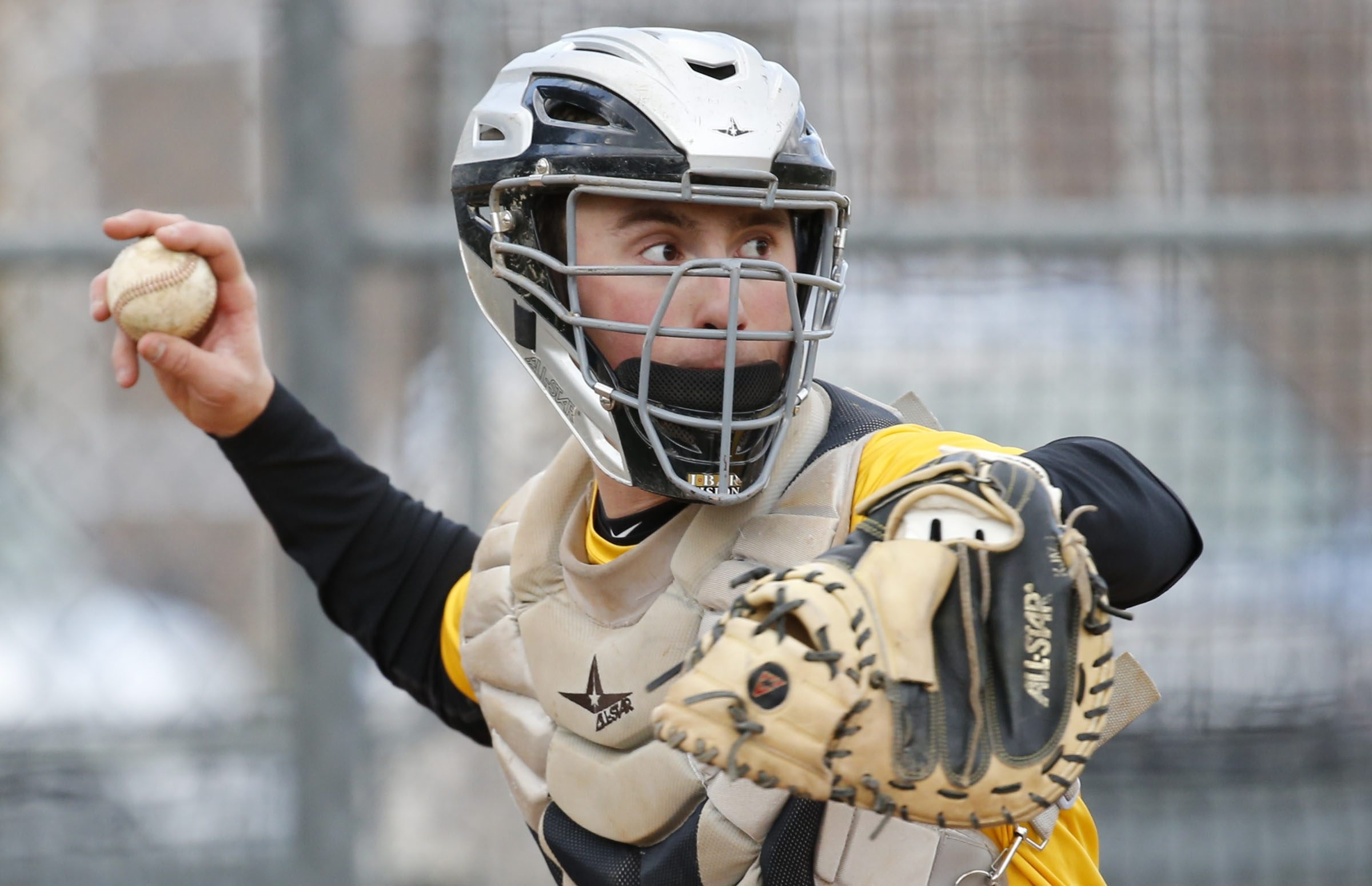 Williamsville North's Andrew White's experience as a catcher often frustrates those who are behind the plate when he pitches because he often shakes off the signs they give him.