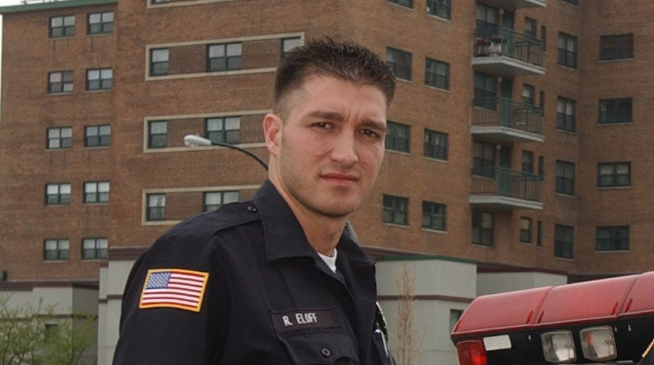 Robert Eloff was off-duty in security role at bar.