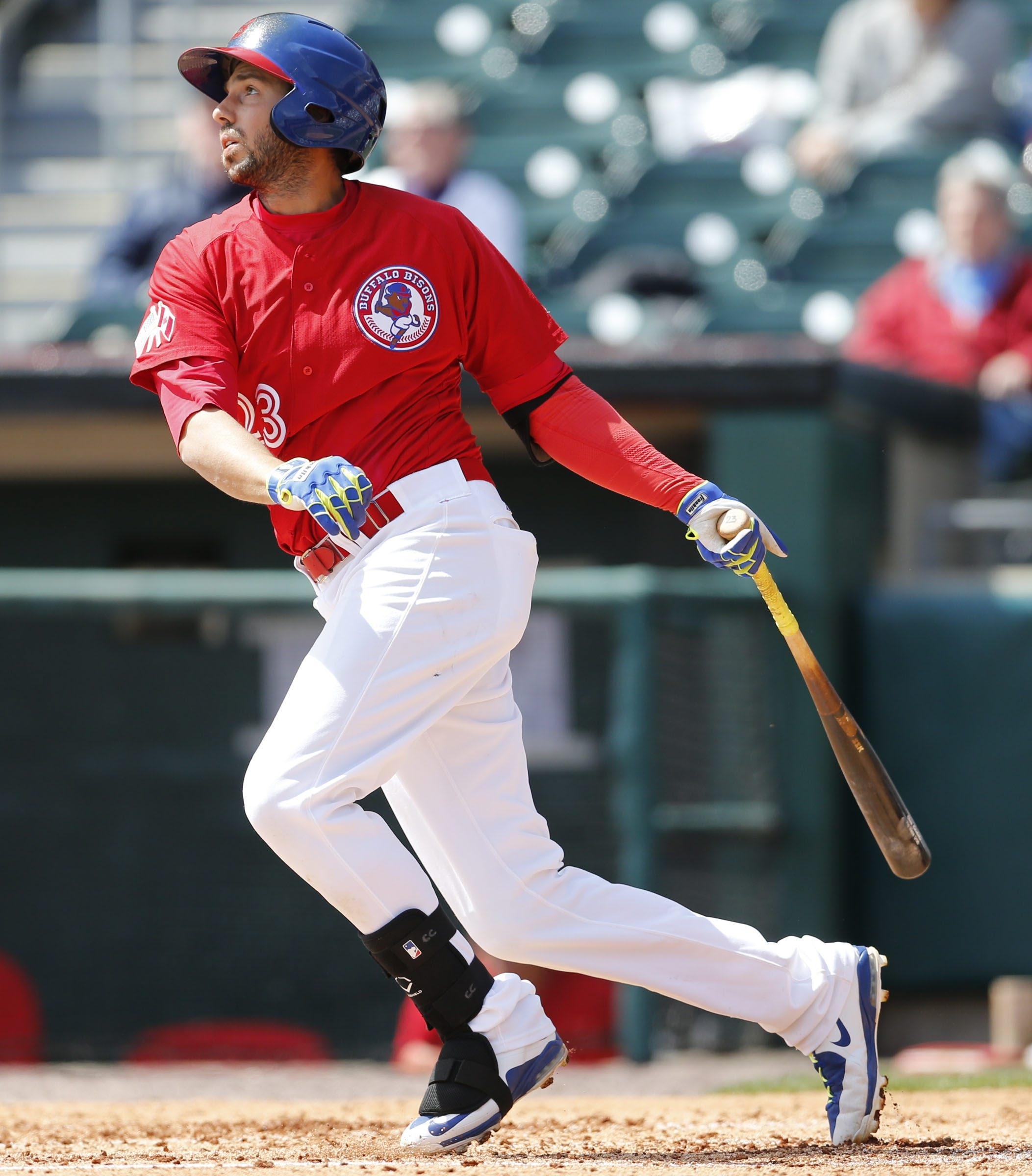 The Bisons' Chris Colabello will see plenty of Norfolk pitching during the homestand.