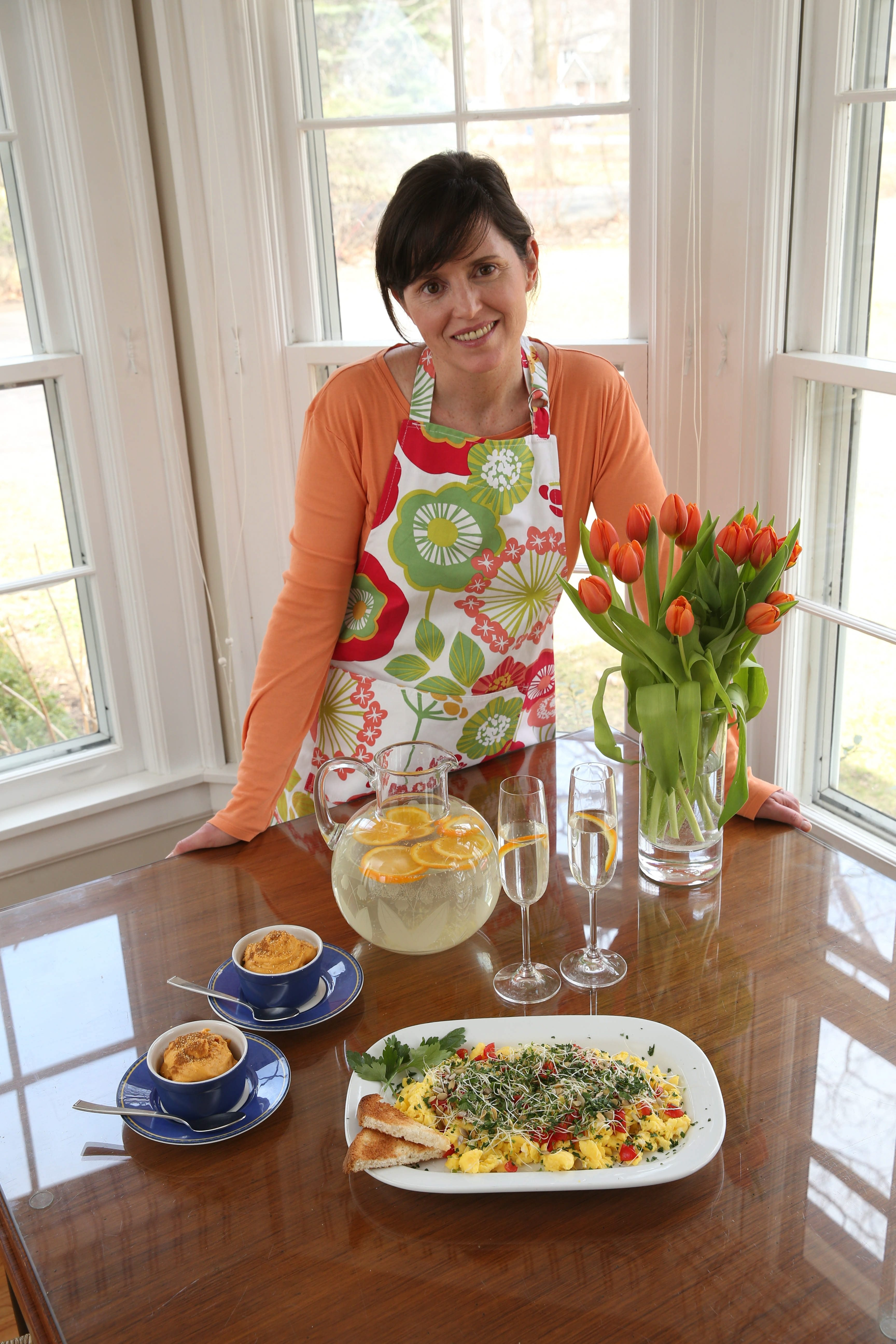 """Kathleen Bradley of Lewiston, a certified professional coach, co-wrote """"The Everything Guide to the Low-FODMAP Diet,"""" a cookbook that promotes a healthy gut. She herself has Irritable Bowel Syndrome and uses the recipes on a daily basis."""