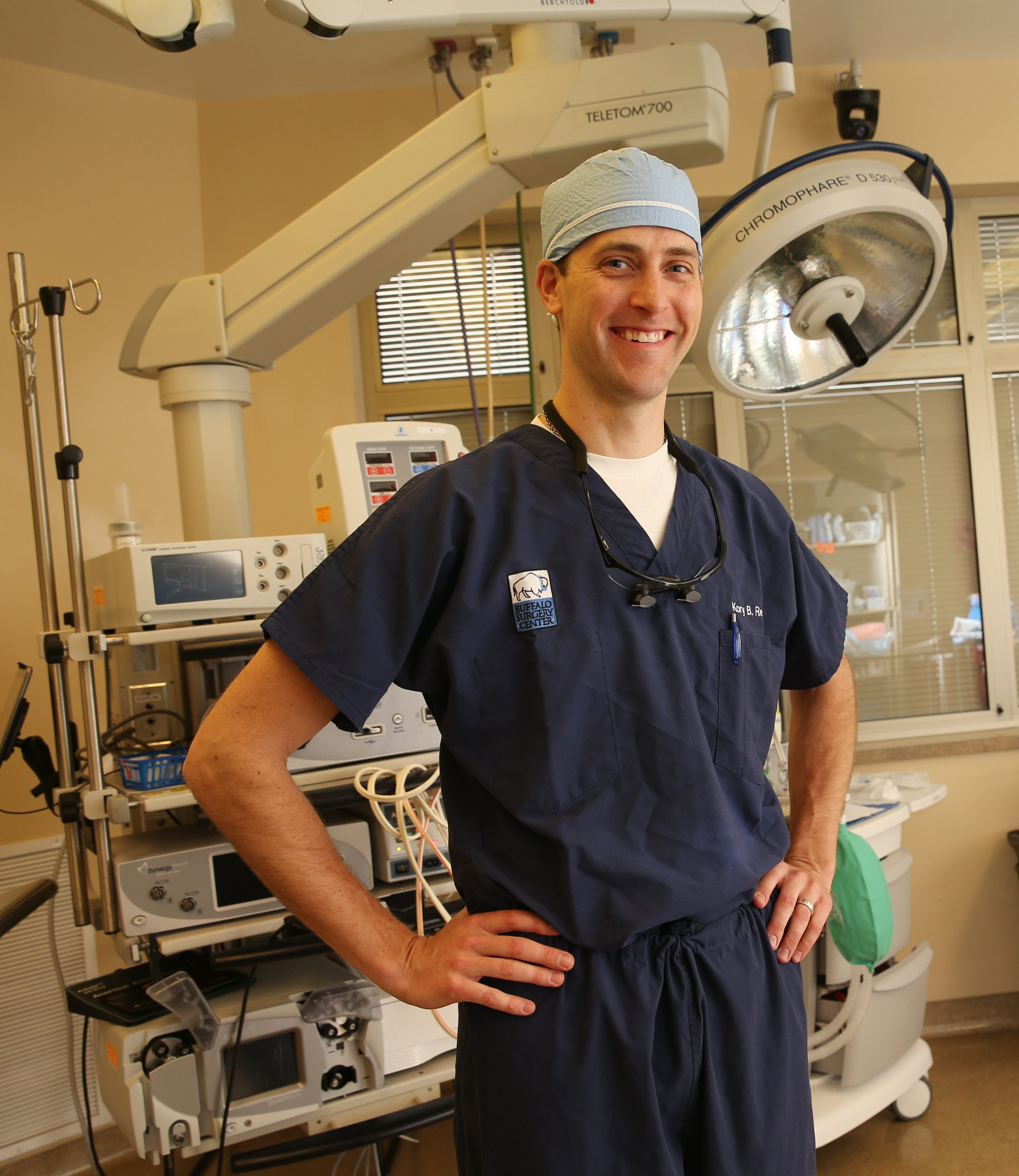 Dr. Kory Reed is an orthopedic surgeon, hand and upper extremity specialist at Excelsior Orthopaedics. He was photographed before doing a surgery, Monday, April 20, 2015.  (Sharon Cantillon/Buffalo News)