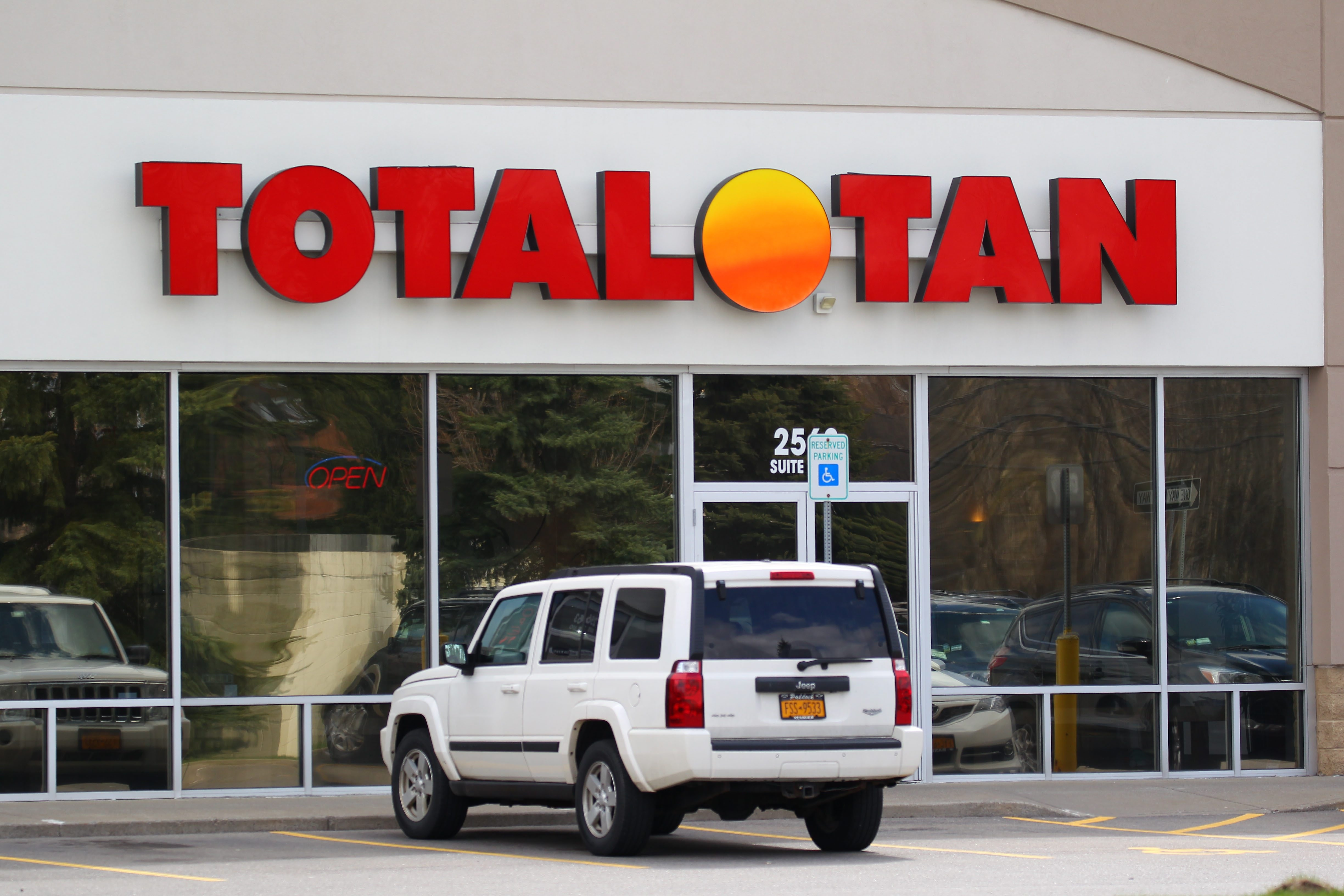 Total Tan  - the Cheektowaga outlet is shown on Friday – has been sued by the state Attorney General's Office.